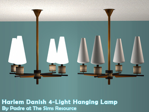 Sims 2 — Harlem II - Danish 4-point Ceiling Light by Padre — More Mid Century style items for your cool mid-century sims