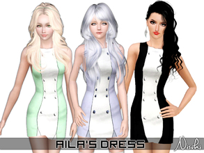 Sims 3 — Aila's Dress by Nisuki — Aila's Dress, as the name says, is originally from Aila (Aira Yurukiainen), who's seen