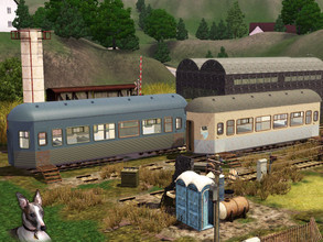 Sims 3 — Disused Railyard by Cyclonesue — No-one should ever have to live here, but maybe there is a home to be made out