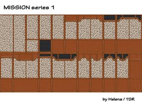 "Sims 2 — Mission Walls - SET 1 by Helena — Made for a little bit better choice from ""Mission\"" walls, which"