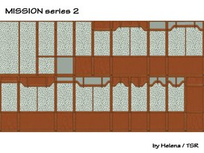 "Sims 2 — Mission Walls - SET 2 by Helena — Made for a little bit better choice from ""Mission\"" walls, which"