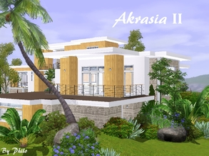 Sims 3 — Akrasia II by philo — This is a 60x60 version from Akrasia I with a slight exotic touch. This house comes with a