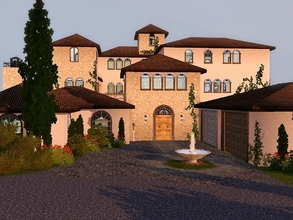 Sims 3 — Cortina Villa by timi722 — Mediterranean home for a medium family. On the ground floor you can find a living