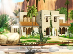 Sims 3 — The Egyptian House by Pralinesims — EP's required: World Adventures Ambitions Late Night Generations Pets