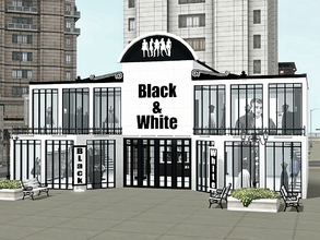 Sims 3 — Black & White Fashion Store by Wimmie —