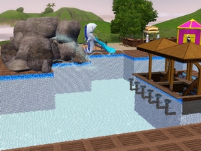 Sims 3 — Rippin Roarin Water Park by jordan23003jn2 — water park with big pool with plenty of activities for the kids,