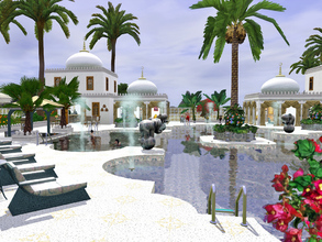 Sims 3 — Oriental Pool by Wimmie —