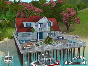 Sims 3 — Missummer02 by ayyuff — A cute family house with 4 bedrooms. It has: 1st floor:kitchen,dining/living room/2