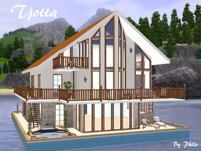 Sims 3 — Tjotta by philo — Do you believe this is just another house? Look twice. It's a houseboat. Not just a boat, but