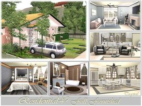 Sims 3 — Residence-47 - Full Furnished by TugmeL — Only Base Game Living,Dining room, Kitchen, 2 bedrooms, 1 bathroom,