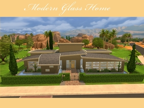 Sims 4 — Modern Glass Home by Luuri — This adorable modern home comes with many glass to clean. It only has one story,