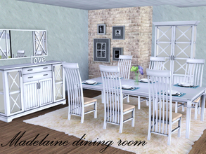 Sims 3 — Madelaine dining room by spacesims — This is a traditional dining area for bigger families. This elegant dining