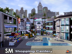 Sims 3 — SM Shopping Center by autaki — ST SC Sims Modern Shopping center It has Coffee Shop Bakery Shop Restaurant Bar
