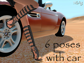 Sims 3 — 6 Poses with car by Mia8 by mia84 — 6 Poses with car by Mia8