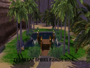 Sims 3 — The Sphinx Fishing Hole by JCIssette — Lots of Alexandrians feel there are some special fish to catch in this