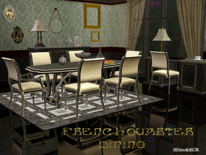 Sims 3 — Dining French Quarter by ShinoKCR — This is the last set of the French Quarter Series: The Dining Room. Made