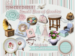 Sims 3 — Granny's Greatest Hits by SIMcredible! — It's SIMcredible! Small box of goodies #4 - Your lovely source for