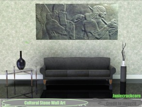 Sims 3 — Cultural Stone Wall Art by Janiecrackcorn — My first upload! A very cultural stone art that will define your