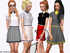 Sims 3 — Sporty Dress by Wimmie — A new, sporty dress for your active, female sims. Needs only base game. Recolorable in