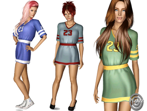 Sims 3 — The Fan by pizazz — Are you the teams biggest fan? Try out the new jersey dress that is not only fun, but looks