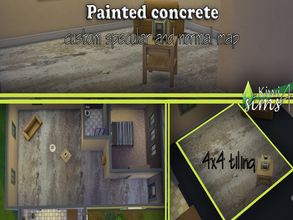 Sims 4 — industrial decaying painted concrete floor by kiwisims_4 — after playing around today with flooring , ive