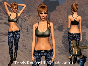 Sims 3 — Tomb Raider 3 Nevada Outfit by karakratm — The Nevada Outfit from Tomb Raider 3. See notes for more info. Enjoy!