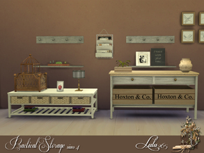 Sims 4 — Practical Storage Sims 4  by Lulu265 — Get a restful feel in your hallway with this classic colour scheme.Temper