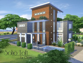 Sims 4 — Soho Loft by chemy — A rustic industrial style, this 1 bedroom loft home offers vaulted ceilings, open concept,