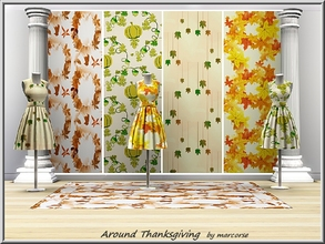Sims 3 — Around Thanksgiving_marcorse by marcorse — Four Autumn patterns with a Thanksgiving flavour. Suspended is found