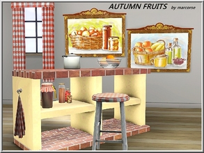 Sims 3 — Autumn Fruits_marcorse by marcorse — Mellow paiintings of Autumn fruits and produce. 2 paintings in 1 file.