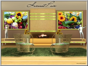 Sims 3 — Harvest Pair_marcorse by marcorse — A pair of matched harvest paintings - place either side of a fireplace for