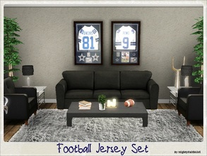 Sims 3 — Football Jersey Set by mightyfaithgirl — Sporty Sims will delight in this 2 part set of Framed Jerseys of NFL