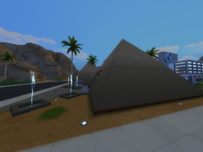 Sims 4 — Museum Pyramids by TomTho9742 — Tired of the base museum? Discover these two pyramids with modern and old works!