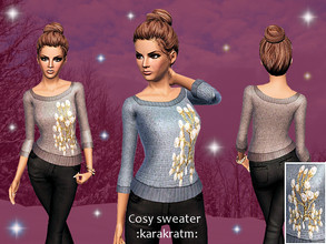 Sims 3 — Cosy Sweater by karakratm — Cosy sweater/jumper for AF/YA. Two recolour-able channels.