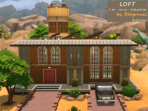 Sims 4 — Loft by Leander_Belgraves — A modern industrial Loft with one Bedroom and one Bath There is a Patio behind the