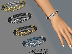Sims 3 — NataliS_Braided infinity leather bracelet FA-YA by Natalis —  Female version of the bracelet with the symbol of