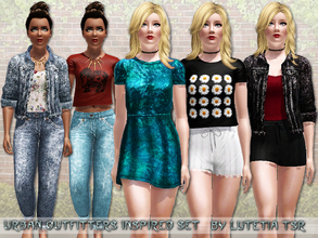 Sims 3 — Urban Outfitters Inspired Set by Lutetia — This set contains five items inspired by Urban Outfitters ~ Works for