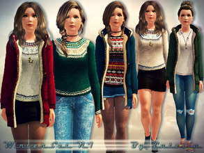Sims 3 — Winter Set No 1 by Lutetia — This set contains a pullover and parka ~ Works for female teens and (young) adults