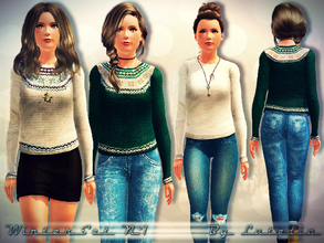 Sims 3 — Winter Set No 1 - Pullover - Teen by Lutetia — A simple warm knitted pullover ~ Works for female teens ~