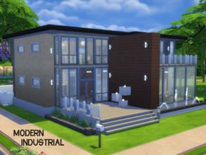 Sims 4 — Modern Industrial by Bladerised2 — A modern house with an industrial-themed interior! The industrial theme adds