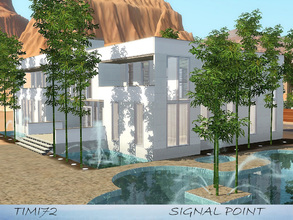 Sims 3 — Signal Point  by timi722 — Modern home, elegant and comfortable at the same time. Fountains are around the