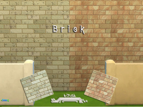 Sims 4 — Nice Brick by Kitch2 — Two types of brick