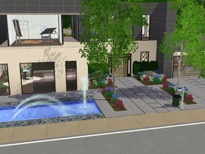 Sims 3 — Asphalt House - no CC! by Schokobrownie952 — This house is suited for a couple but even for singles who want to