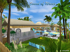 Sims 3 — Sound_of_Waves by matomibotaki — Public pool with lot of possibilities to have a nice day with fun and sports.