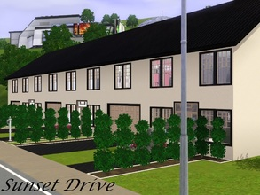 Sims 3 — Sunset Drive - no CC!  by Schokobrownie952 — A modern townhouse. Only the right house is full furnished and