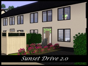 Sims 3 — Sunset Drive 2.0 by Schokobrownie952 — A modern townhouse. Only the right house is full furnished and ready to