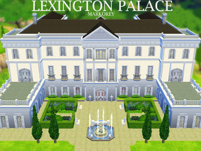 Sims 4 — Lexington Palace by markorey — Stunning neoclassical palace! It's got 9 bedrooms and 10 bathrooms, several
