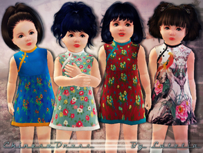 Sims 3 — Chinese Styled Dress by Lutetia — A cute chinese inspired collared dress ~ Works for female toddlers ~