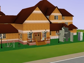 Sims 3 — Mansionn Sim Por NatiOlima by NatiOlima — This mansion was built for the mayor with his family and servants .