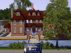 Sims 3 — Longbourn House by Anju_N — Step into the past, in this large family home featuring five bedrooms, three